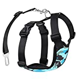 Dog Safety Vest Harness, Pets Mulit-function Adjustable Vest Harness with Car Vehicle Safety Seat Belt, Double Breathable Mesh Fabric, Perfect for Dogs Travel Walking Trip (XL, Camouflage) Review