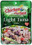 Chicken of the Sea Tuna Premium Light, 2.5 Ounce Pouch (Pack of 12)