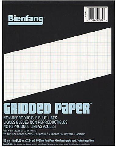 Bienfang Gridded Paper (4 x 4) - 8 1/2 In. x 11 In. 2 pcs sku# 1827291MA