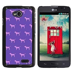 TopCaseStore / la caja del caucho duro de la cubierta de protección de la piel - Pink Pattern Wallpaper - LG Optimus L70 / LS620 / D325 / MS323