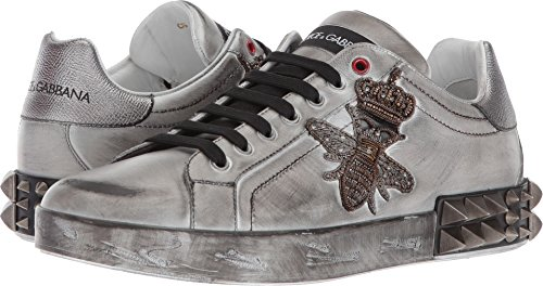 Dolce & Gabbana Men's Bee Sneaker White/Silver 43 M - And Men Dolce Sneakers Gabbana For