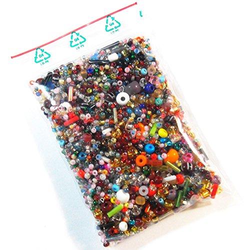 1 kg Perlin Preciosa in Vetro Ceco 1kCZ356g 2 3 4 6 mm Mix per Gioielli Fai da Te