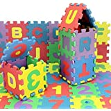 LazyToddler™ Non-Toxic 36 Piece ABC Foam Mat - Alphabet & Number Puzzle Play & Flooring Mat for Children & Toddlers
