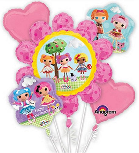 La La Loopsy Balloon Birthday Party Favor Supplies 5ct Foil Balloon Bouquet
