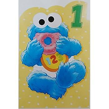Amazon Elmo Sesame Street Happy First Birthday Greeting Card