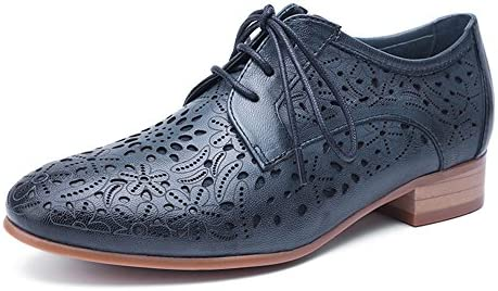 dd6e37f0ed Mona Flying Women's Leather Perforated Lace-up Oxfords Shoes For Women  Wingtip Multicolor Brougue Shoes