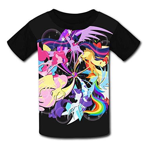 My Little Heroes of Harmony Pony Children T-Shirts Crew Neck Short Sleeve Raglan Costume Tee Shirt for Teenager -