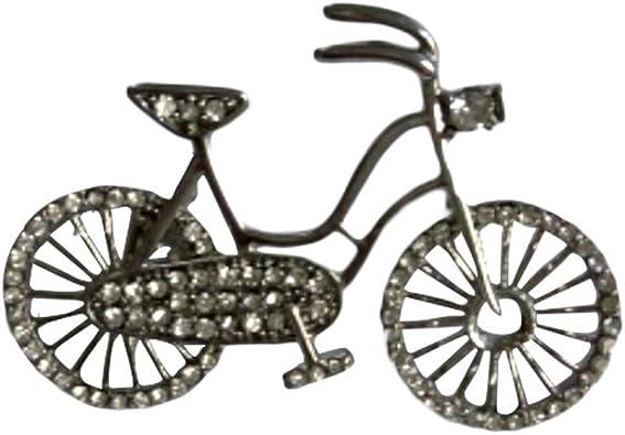 OULII Lindo broche de bicicleta alfileres de aleación decorativa con ...