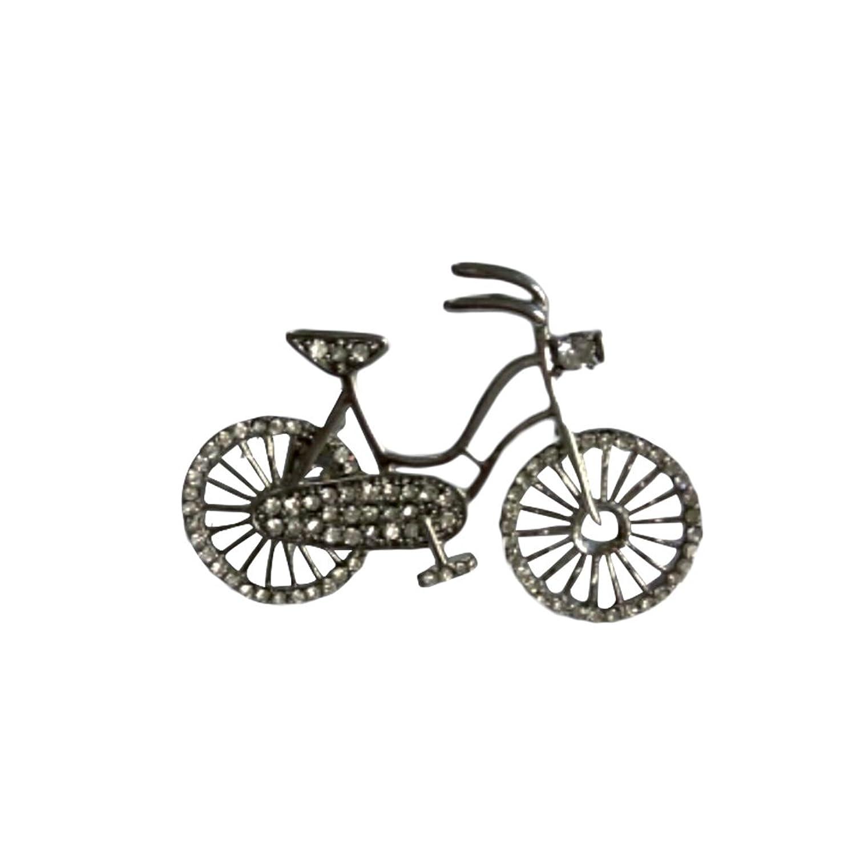 OULII Lindo broche de bicicleta alfileres de aleación decorativa con estilo Corsage Breastpin para mujeres niñas