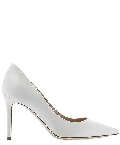 sports shoes d6afe 097ce Amazon.com: DEIMILLE 310409190 Women's White Leather Pumps ...