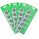 Pack of 20 CR2032 Lithium Button Cell Coin Battery 3V, Specially Made for All Kinds of LED Lights, Copper Wire String Lights, Fairy Lights, LED Candles, Christmas Lights ect, Long Lasting Working Span