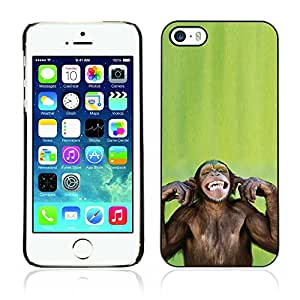 Graphic4You Funny Moneky Animal Design Hard Case Cover for Apple iPhone 5 & 5S