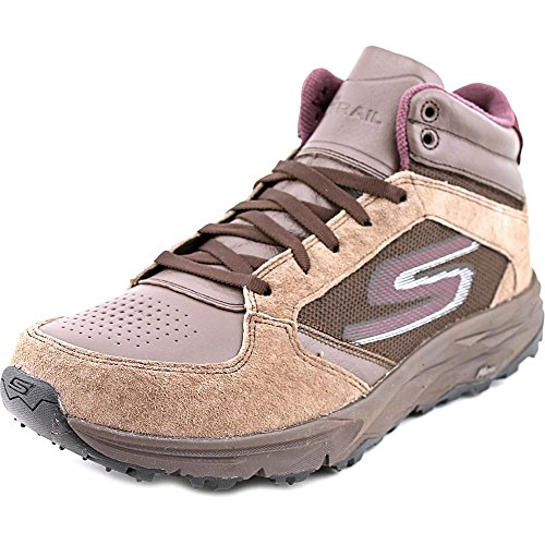 Athletic Suede Hiking Boots - Skechers Go Trail Escape Women Round Toe Suede Hiking Shoe (8.5, Chocolate)