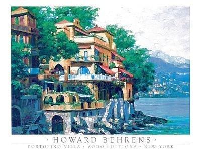 Howard Behrens - Portofino Villa NO LONGER IN PRINT - LAST ONE!! - Howard Behrens Villa