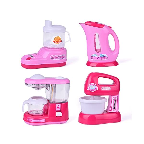 Assorted Kitchen Appliance Toys for Girls, Coffee Maker, Blender, Play Kitchen Accessories for Kids 51icsexpHUL