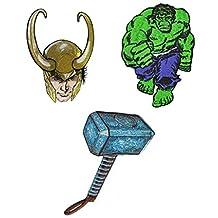 J&C Family Owned Marvel Avengers Loki, Thor, Hulk Patch Gift Set