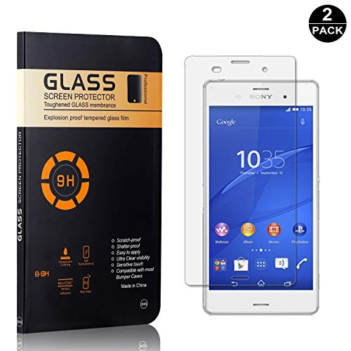 2cac49872ea Sony Xperia Z3 Screen Protector Tempered Glass, Bear Village® HD Screen  Protector, 9H