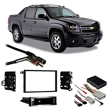 Compatible with Chevy Avalanche 03-06 Double DIN Stereo Harness Radio on