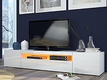 Porta tv moderno Mojito, mobile soggiorno Bianco, portatv design ...
