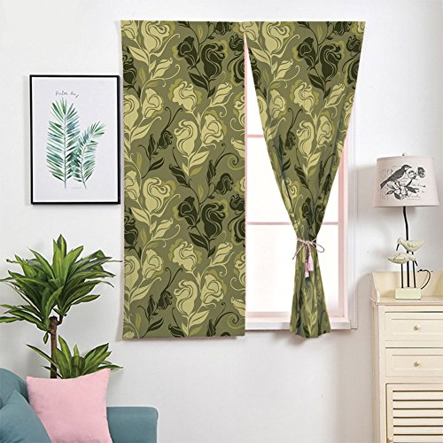 Blackout Curtains Free Punching Magic Stickers Window Curtain,Animal