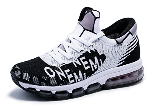 Men's B07BR3F74Y Women's Letter Print Air Cushion Mesh Running Sneakers B07BR3F74Y Men's Shoes a5f7fe