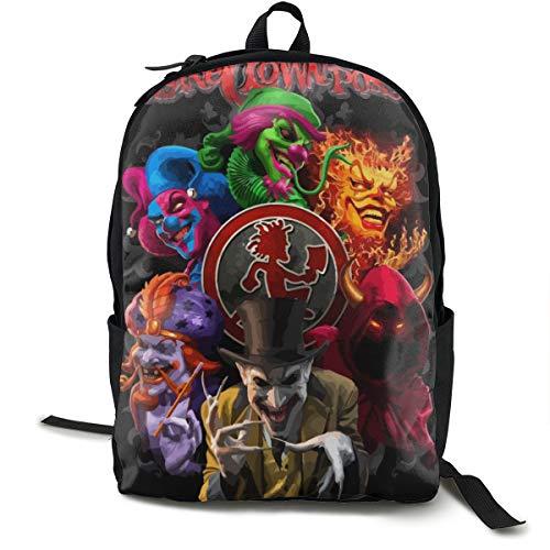 LILISALA Canvas Backpack,Hatchetman ICP Casual Laptop Satchel Bookbags School Bag Daypack for Travel,Hiking,Camping,Outdoor (Insane Clown Posse Bag)