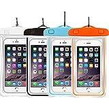 1PackBlue+2Pack pink Universal Waterproof Phone Case Dry Bag CaseHQ for iPhone 4/5/6/6s/6plus/6splus Samsung Galaxy...