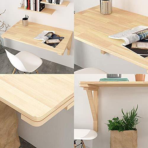Fällbart bord – matbord arbetsbord laptopbord – väggbord – trä – för garage tvättstuga kontor familj (14 storlekar) väggmonterad hopfällbar bord