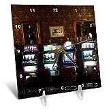 3dRose Jos Fauxtographee- Mizpah Casino - A Casino Inside The First Floor at The Mizpah Hotel with Slot Machines - 6x6 Desk Clock (dc_291366_1)