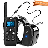 Training Dog Collar - Casifor Dog Training Collar with Remote Rechargeable and Waterproof Electric Shock Collar with Beep Vibration Shock Modes for Medium Large Dogs (1850 Ft)