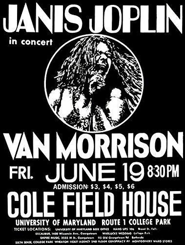 Janis Joplin - Van Morrison - 1970 - Cole Field House - Concert Poster