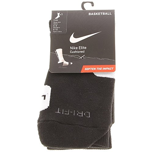 NIKE Men's Elite Basketball Crew Socks - Medium, Black/White