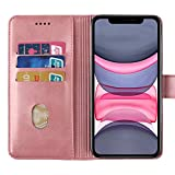 WeTest iPhone 11 Leather Wallet Case,Flip Stand