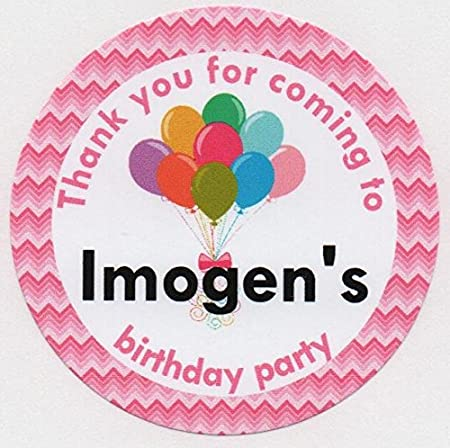 Personalised Party Thank You Stickers
