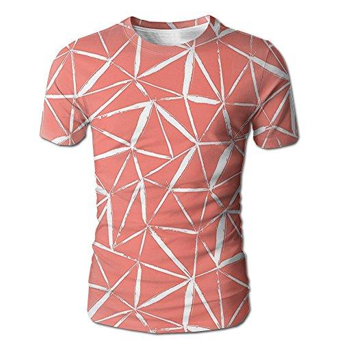 - Edgar John Fractal Mix Geometric Active Zig Zag Hand Drawn Doodle Murky Bold Stripes Men's Short Sleeve Tshirt S