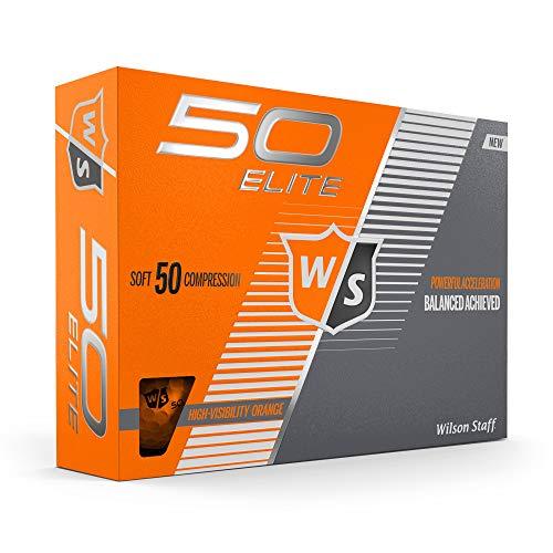 Wilson Staff Fifty Elite Golf Ball, Orange (Best Orange Golf Balls)