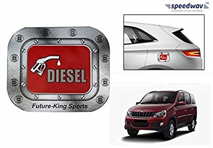 Speedwav car fuel lid vinyl diesel sticker red square mahindra xylo type 1 2007