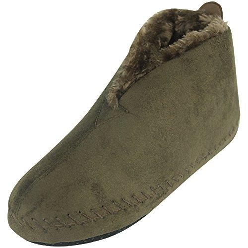 E Women's Slipper House Forfoot Boots Brown Fleece Indoor Cozy 7wwHA