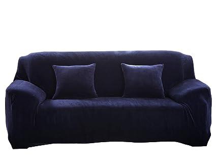 Terrific Amazon Com Couturebridal Velvet Sofa Covers 4 Seater Navy Ibusinesslaw Wood Chair Design Ideas Ibusinesslaworg