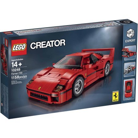 LEGO Creator Expert Ferrari F40, Comes With 1158 Pieces: Amazon.com: Books