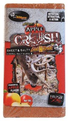 (Wildgame Innovations Flextone Game Calls 00329 Lick Brick Attractant, Apple Crush, 4-Lbs. - Quantity 6)