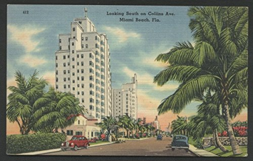 Miami Beach Collins Avenue Florida Street View Vintage - Beach Collins Miami