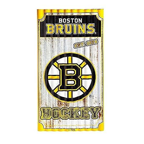 Team Sports America Boston Bruins Corrugated Metal Wall Art