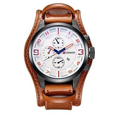 d4b1be3c7bb6 CURREN CURREN Men s Wrist watch Fashion Watch Casual Watch Chinese Quartz  Large Dial Casual Watch Leather