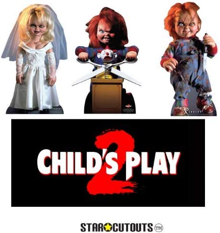 Friends and Fans Multicolour Star Cutouts SC1326 Good Guys Doll ChuckyChilds Play Perfect for Halloween