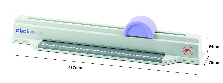 CA610000 GBC ClickMan Click Binding Machine 6 Sheet Punch Capacity A4 Silver 145 Sheet Binding Capacity