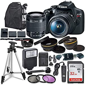Best Epic Trends 51icwbkg8dL._SS300_ Canon EOS Rebel T7 Digital SLR Camera with Canon EF-S 18-55mm Image Stabilization II Lens, Sandisk 32GB SDHC Memory…