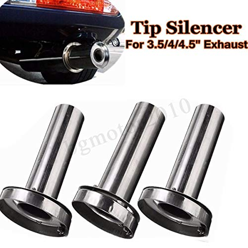 - Round Insert 3.5'' 4'' 4.5'' Removable Tip Muffler Exhaust Silencer For Honda