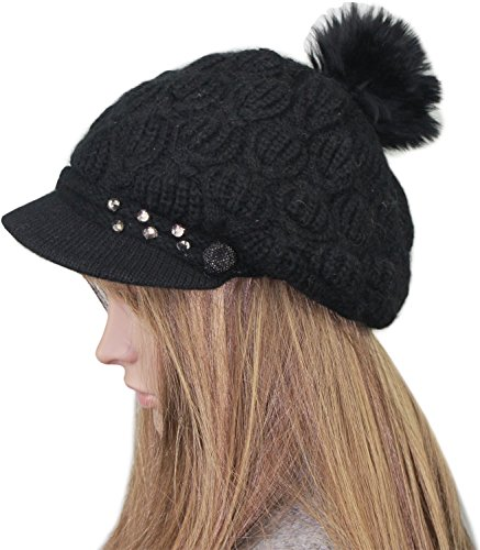 Deja Beauty of USA Womens Ladies Stylish Fashionable Rabbit Hair Blend Newsboy Cabbie Hat