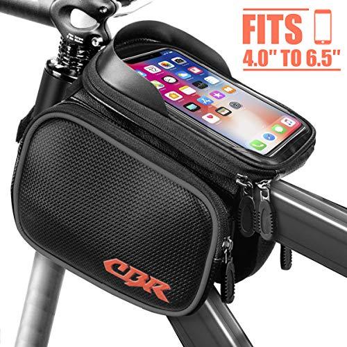 Seamounts Bike Bag, Bicycle Front Frame Bag, Top Tube Bag, Bike Phone Bag, Handlebar Bag